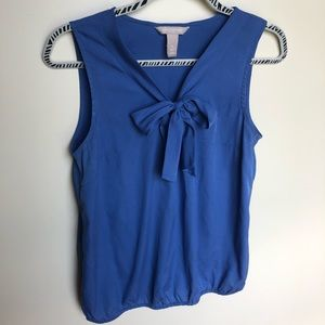 Blue Banana Republic tie front blouse